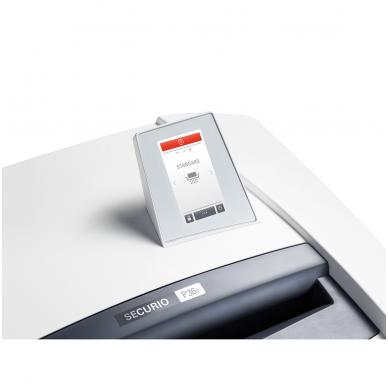Profesionalus dokumentų naikiklis su automatine ašmenų tepimo sistema, skirtas dideliam biurui ar departamentui HSM Securio P36i, gabalėliai 4,5 x 30,mm, P-4 5