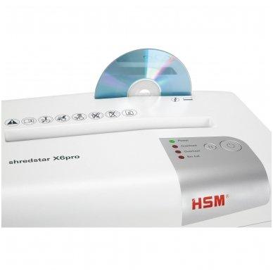 Nedidelis aukšto saugumo lygio dokumentų naikiklis HSM Shredstar X6pro, gabalėliai 2 x 15mm, P-5 5
